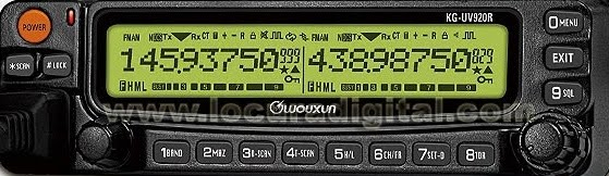 Wouxun KG-UV950P Quad Band mobile